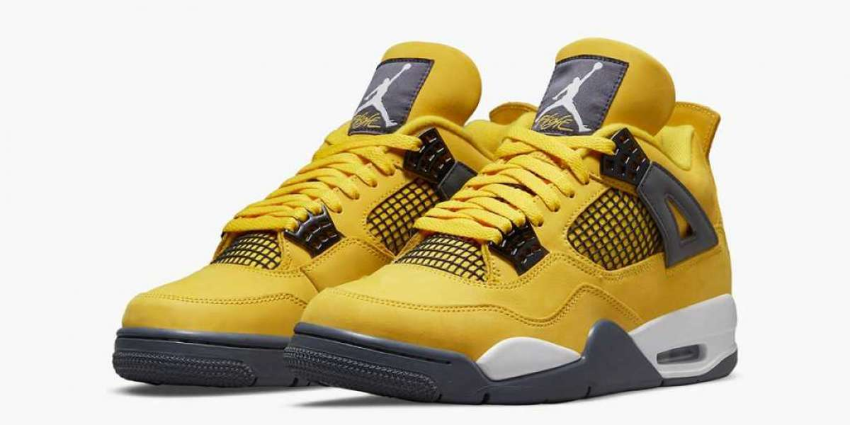 Fashion 2021 Air Jordan 4 Lightning Tour Yellow CT8527-700