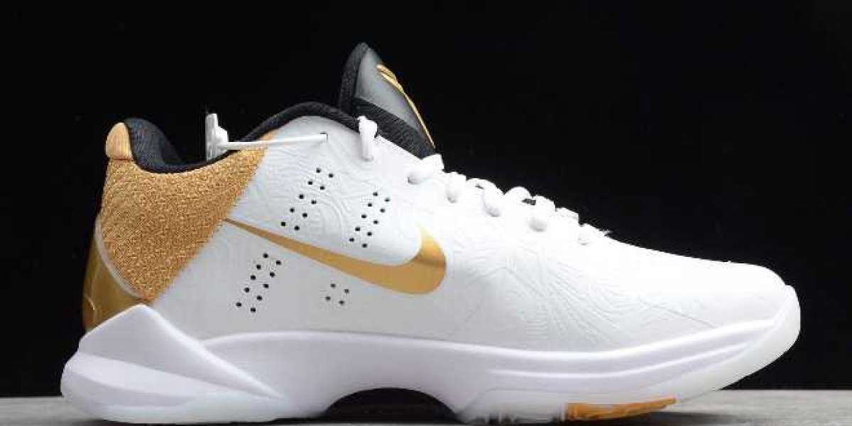 """Where To Buying Nike Zoom Kobe 5 Protro """"Big Stage"""" White/Metallic Gold-Black CT8014-100"""