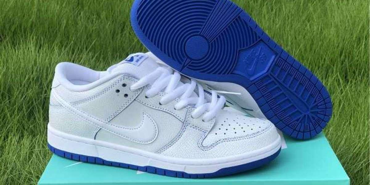 New Nike SB Dunk Low Premium White Game Royal Outlet Sale CJ6884-100