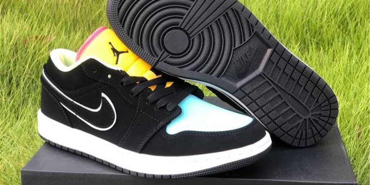 Air Jordan 1 Low Pairs Neon Black/Aurora Green/Laser Orange CK3022-013