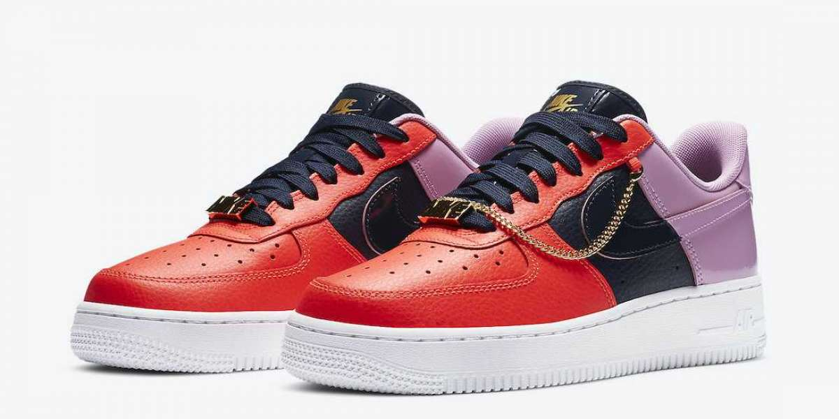 """CZ8100-600 Nike Air Force 1 """"Cuban Link"""" For Sale"""