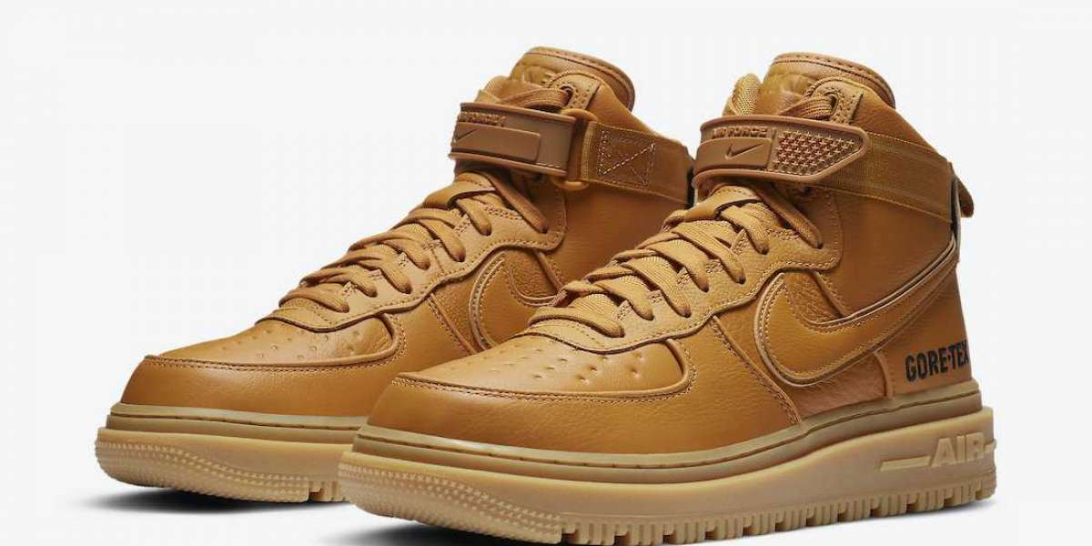 """Fashion Nike Air Force 1 Gore-Tex Boot """"Wheat"""" Sneakers CT2815-200"""