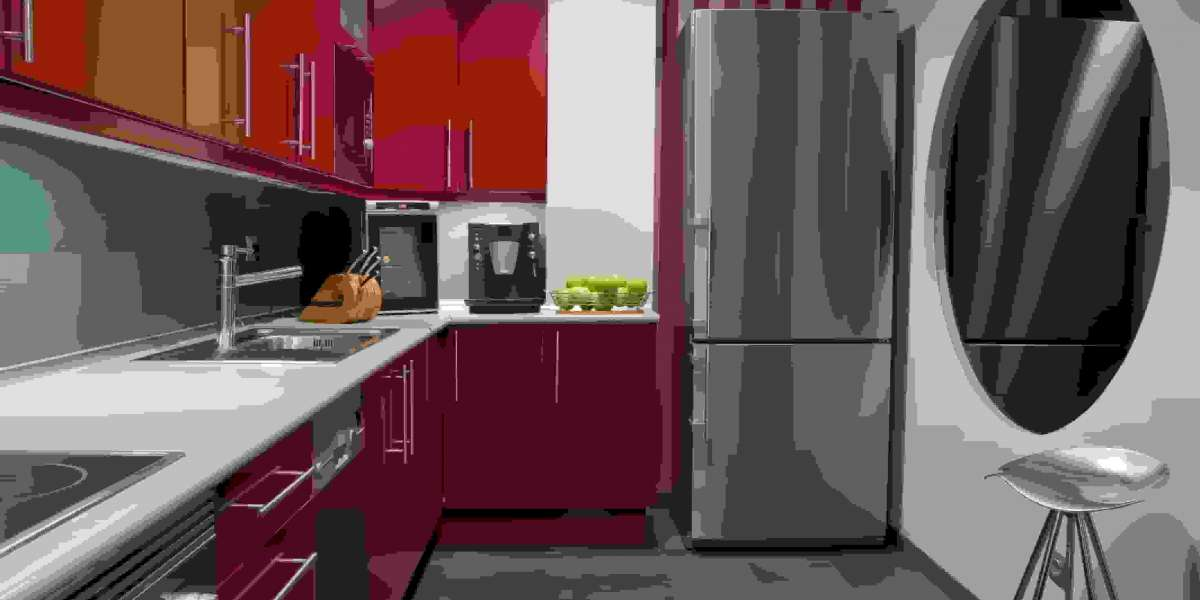 Find out more about the red kitchen cabinets