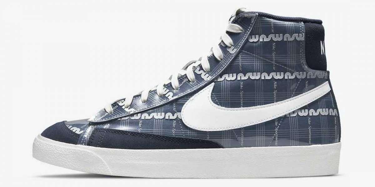 "The Nike Blazer Mid ""Midnight Navy"" DJ4654-410 shoes selling hot"