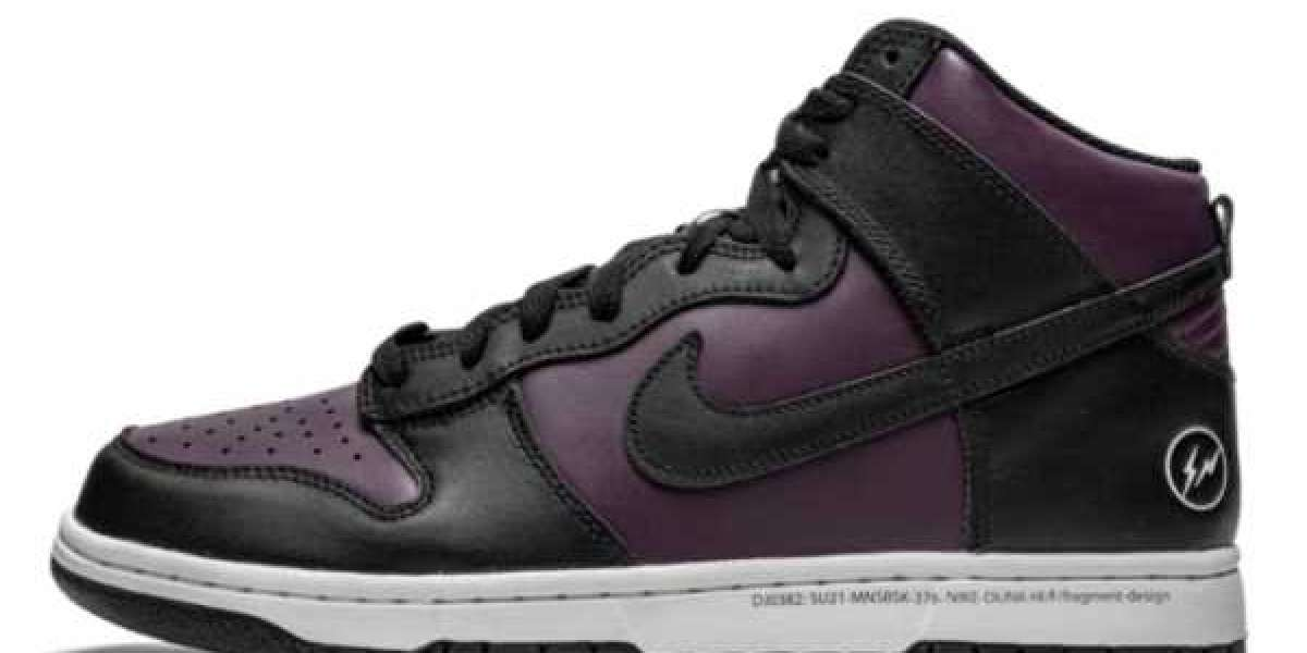 "2021 Latest Fragment x Nike Dunk High ""Beijing"" For Sale DJ0382-600"