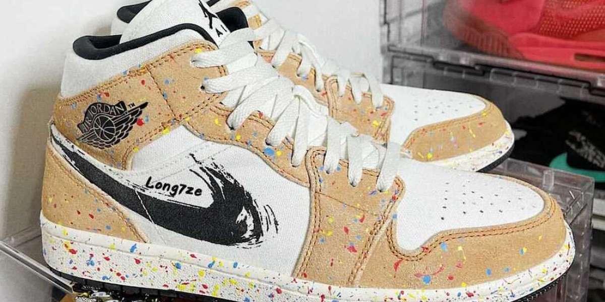 "Buy Nike Air Jordan 1 Mid SE ""Brushstroke"" Basketball Shoes"