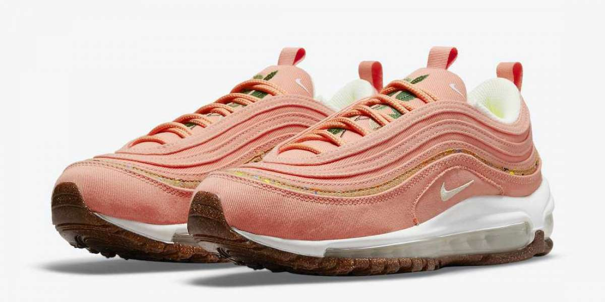 """Latest 2021 Nike Air Max 97 """"Cork"""" Pink Sneakers will be released"""