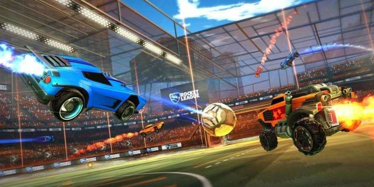 Showcases Rocket League cars hovering via the air easily