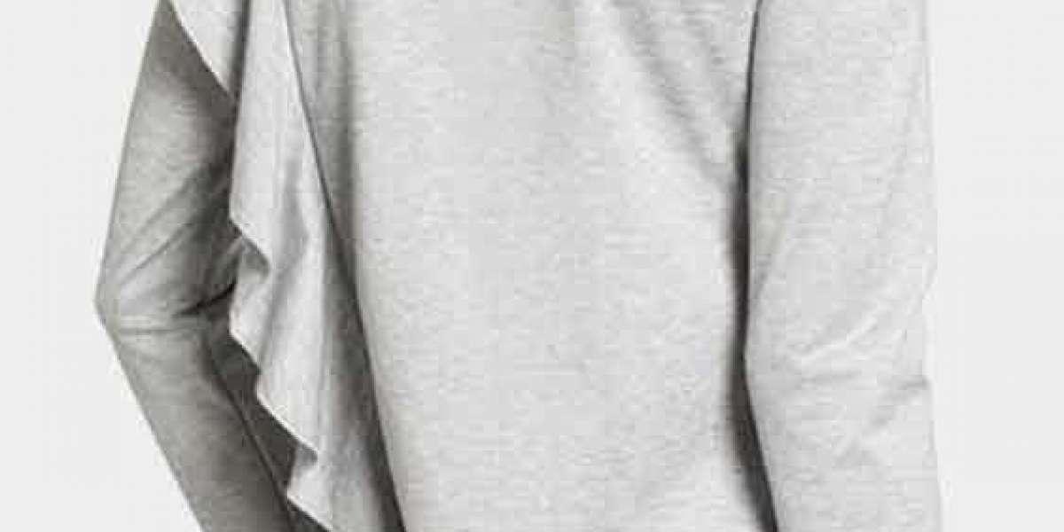 V-Neck Floral Print Long Sleeve Black T-Shirts