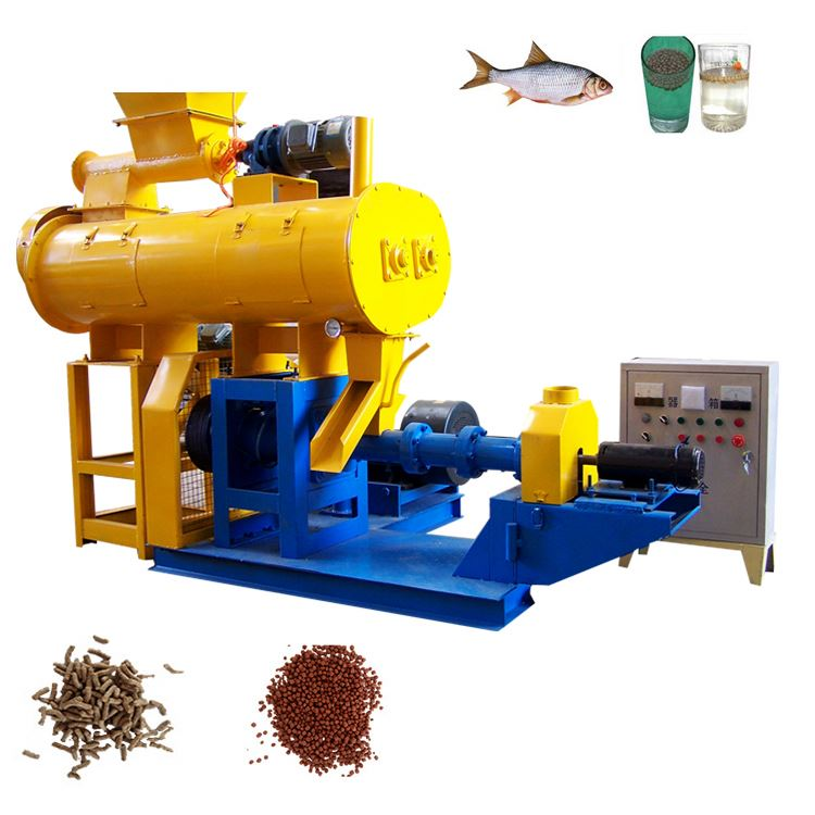 Floating Fish Feed Extruder Machine Price For Extruding Feed Pellets