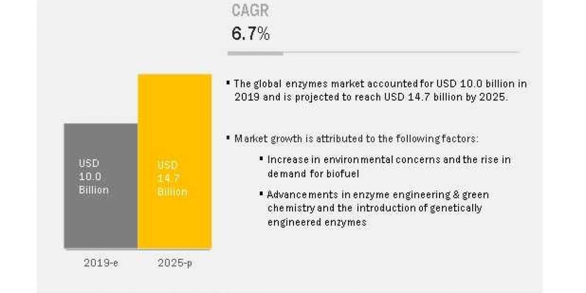 Enzymes Market Witness the Growth of $14.7 billion by 2025