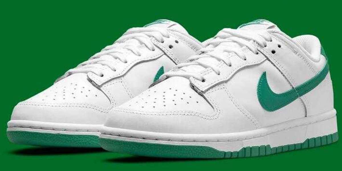 Simple Style Nike Dunk Low Releasing With White And Green